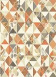 Into The Woods Aster Burnt Orange Taupe  Wallpaper 98530 By Holden